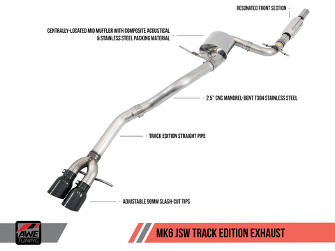 AWE EXHAUST SUITE FOR MK6 JETTA 2.5L