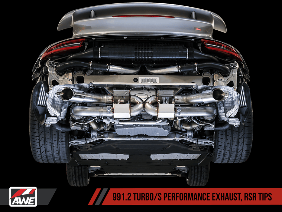 AWE TUNING PORSCHE 991.2 TURBO AND TURBO S PERFORMANCE EXHAUST SYSTEM - GRDtuned