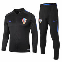Croatia | Black with Blue Sleeves | Training Tracksuit 18/19 - SoccerTriads