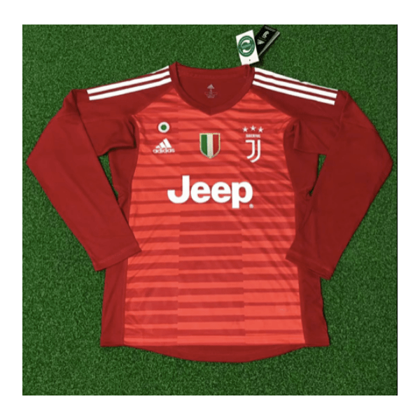 Juventus | Red GK Kit 18/19 | Long Sleeves - Discount Soccer Jerseys
