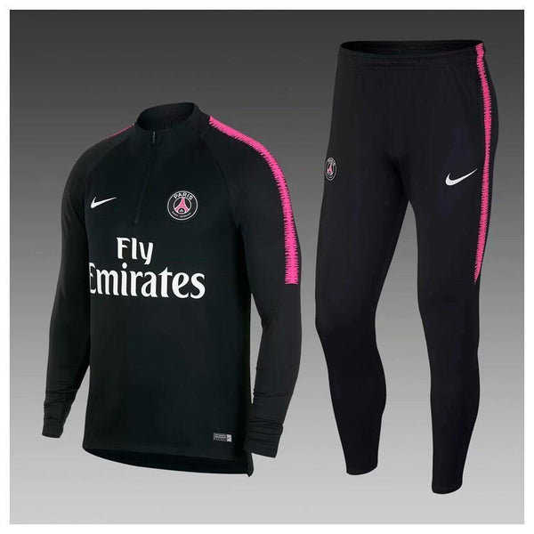 PSG | Black Type A | Training Tracksuit - Discount Soccer Jerseys
