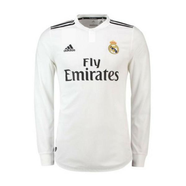 Real Madrid | Home Kit 18/19 | Long Sleeves - SoccerTriads
