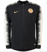 PSG | Black - Light Grey Sleeves | Training Tracksuit - SoccerTriads