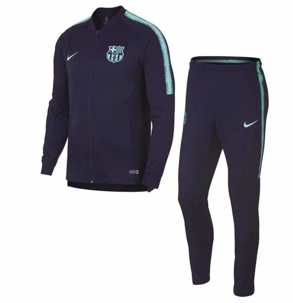 Barcelona | Blue Sleeves | Training Tracksuit 18/19 - SoccerTriads