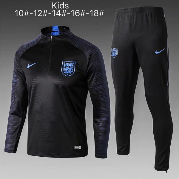 England | Black Type B Kids Training Top + Pants 18/19 - Soccer-Triads.co.uk
