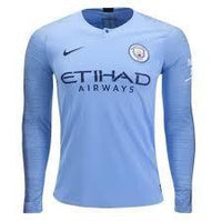 Man City | Home Kit 18/19 | Long Sleeves - SoccerTriads