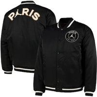 PSG | Paris Saint-Germain Jordan Varsity Jacket 2020-21 - Black