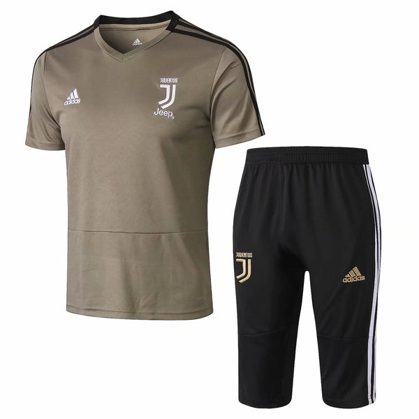 Juventus | Khaki Short Training Suit 18/19 - Soccer-Triads.co.uk