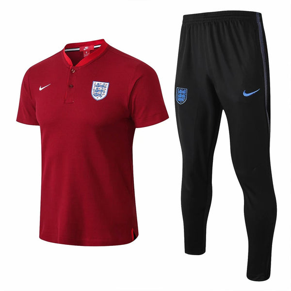 England | Red Polo + Pants Training Suit 18/19 - SoccerTriads