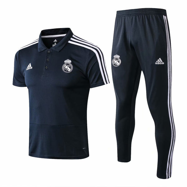 Real Madrid | Blue Polo + Pants Training Suit 19/20 - SoccerTriads
