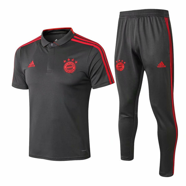Bayern | Grey Polo + Pants Training Suit 18/19 - SoccerTriads