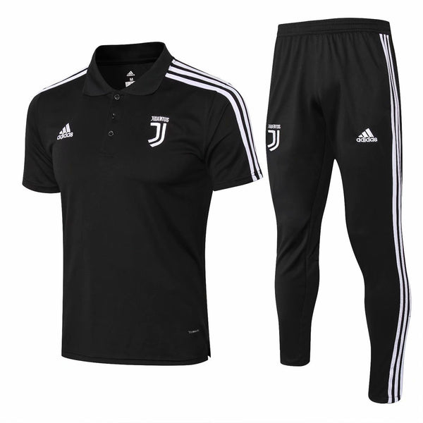 Juventus | Black Polo + Pants Training Suit 18/19 - SoccerTriads