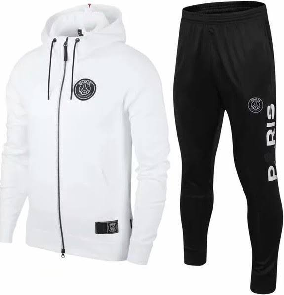 PSG | Mens Hooded Tracksuit White 19/20 - Discount Soccer Jerseys