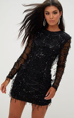 Load image into Gallery viewer, Long sleeve Sequins Dress Women