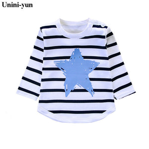 Print Cotton Long Sleeve T Shirts Rainbow for Girls baby Clothing
