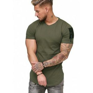 V-neck Short Sleeved T-Shirt