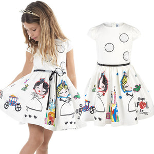 Girls Dress with Sashes Robe Fille Character Princess Dress Children