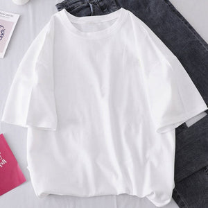 women tops aesthetic t shirt Crew neck