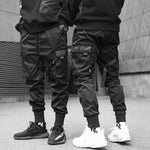 Load image into Gallery viewer, Hip Hop Boy Multi-pocket Elastic Waist Design Harem Pant Men Streetwear Punk Casual Trousers Jogger Male Dancing Black Pants
