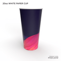 20 Oz Single Wall Customized Paper Cups - Hotpack Global