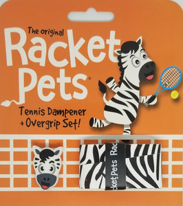 Black White Zebra - tennis racket dampener overgrip tape animals