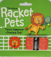 Orange Lion - tennis racket dampener shock absorber  overgrip animals