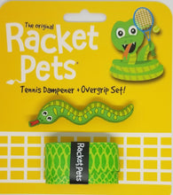 Green Snake - tennis racket dampener shock absorber overgrip animals