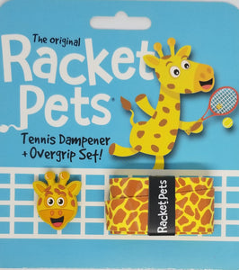 Yellow Giraffe - tennis racket dampener shock absorber overgrip animals