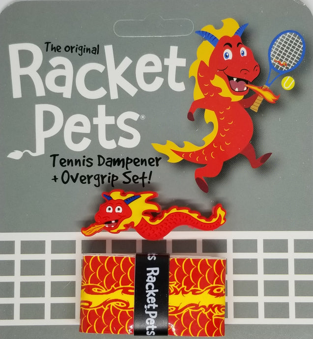Red Dragon - tennis racket dampener shock absorber overgrip animals