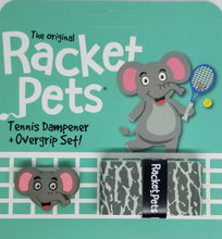 Gray tennis gift idea - elephant theme tennis grip tape and dampener