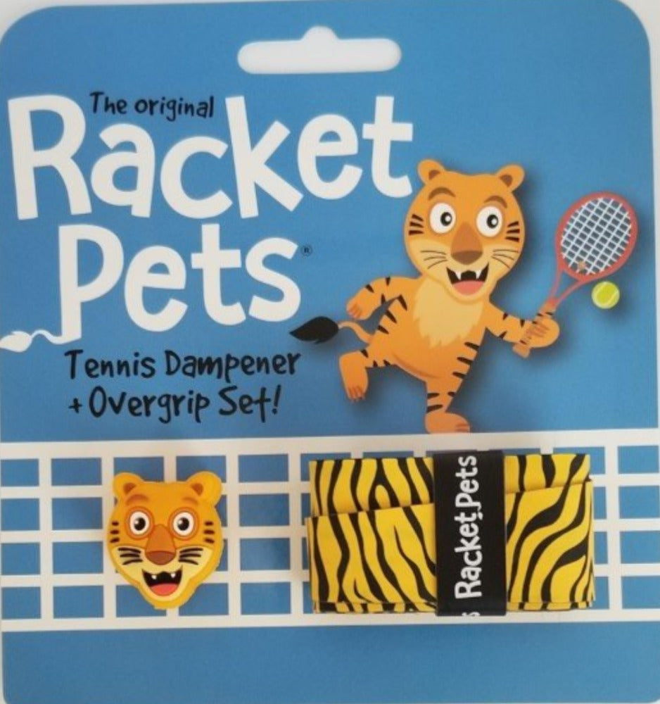 Tiger - tennis racket dampener overgrip animals