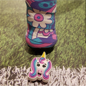 Pink purple Unicorn (pack of 2) - tennis racket dampener overgrip tape animals