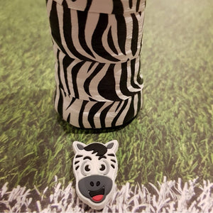 Overgrip - Zebra (pack of 2) - tennis racket dampener over grip tape animals