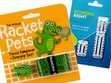 VALUE PACK - A Green Alligator Racket Pet and Scoring Right Tennis Score Keeper