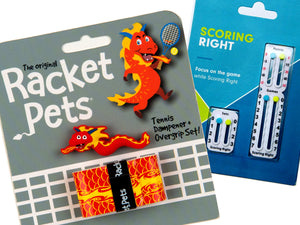 VALUE PACK - A Red Dragon Racket Pet and Scoring Right Tennis Score Keeper