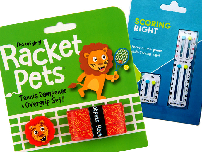 VALUE PACK - An Orange Lion Racket Pet and Scoring Right Tennis Score Keeper