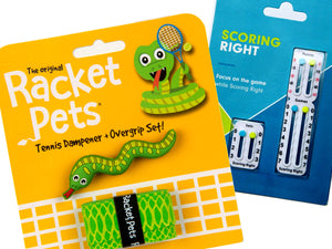 VALUE PACK - A Green Snake Racket Pet and Scoring Right Tennis Score Keeper