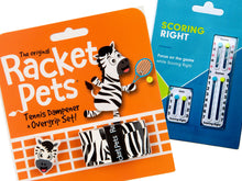 VALUE PACK - A Black Zebra Racket Pet and Scoring Right Tennis Score Keeper