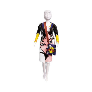 Set de croitorie hainute pentru papusi Couture Lizzy Pop Art, Dress Your Doll