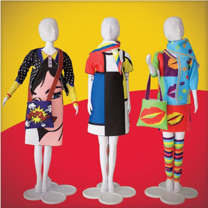 Set de croitorie hainute pentru papusi Couture Twiggy Mondriaan, Dress Your Doll