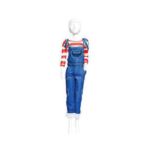 Set de croitorie hainute pentru papusi Couture Tilly Jeans, Dress Your Doll
