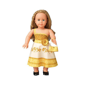 Set de croitorie hainute pentru papusi Couture Nataly Gold, Dress Your Doll