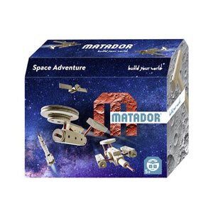 Set cuburi de constructie din lemn Explorer World Space, +5 ani, Matador