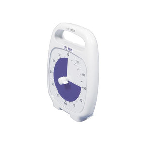 Ceas temporizator Time Timer Plus 120 minute, alb, Robo