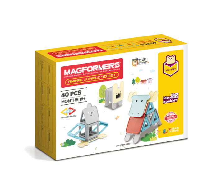 Set magnetic de construit- Magformers Animale, 40 piese