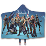15%OFF ! Fortnite 3D Printed Hooded  Blanket And Gaming Socks