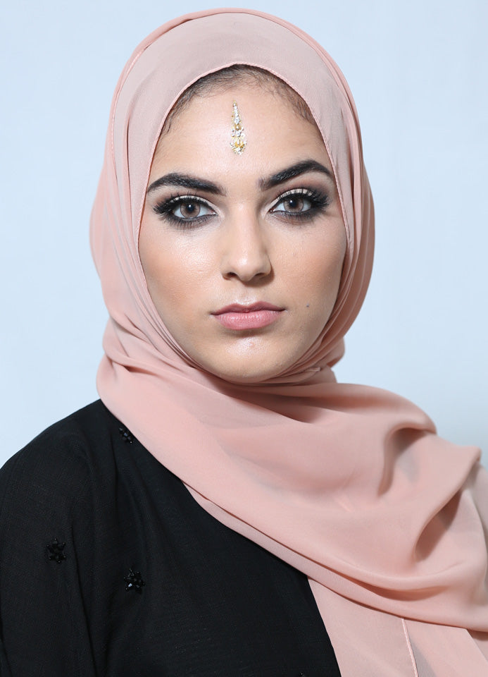 Salmon Chiffon Scarf/Hijab by Hijab Avenue - Noor Boutique