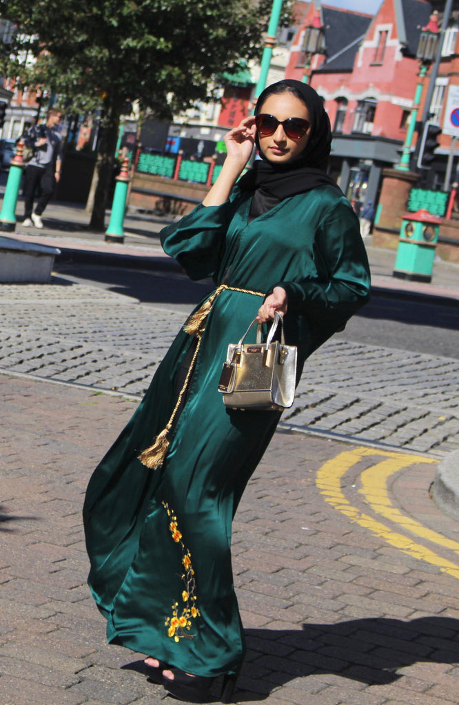 Oriental Teel Green Abaya by Noor Boutique