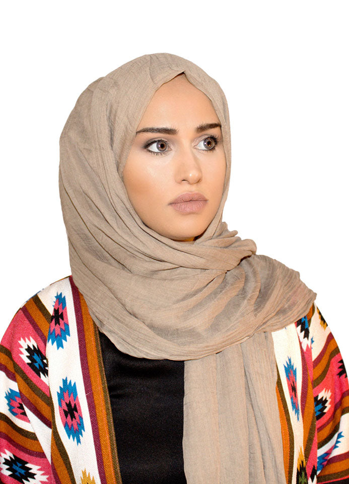 Sand Soft Cotton Scarf/Hijab - by Hijab Avenue - Noor Boutique