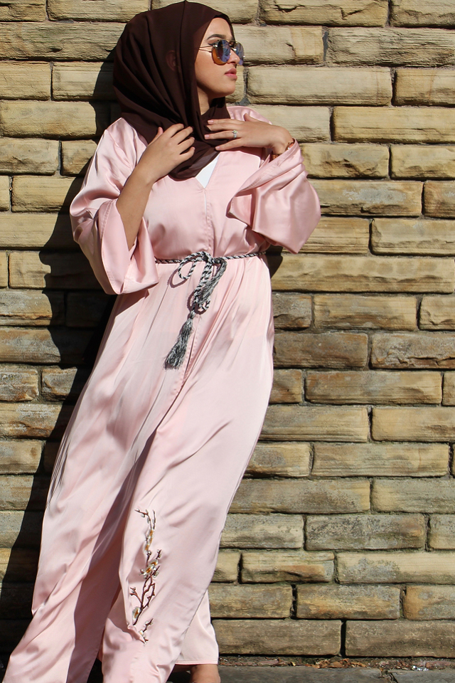 Oriental Pink Abaya by Noor Boutique